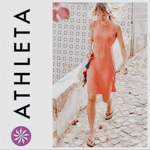 Athleta Santorini High Neck Red Tank Dress